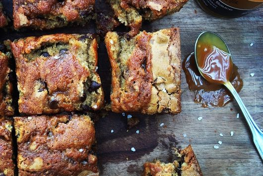 { salted caramel + brown butter blondies }