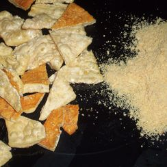 "Parmesan cheese ""chips"""