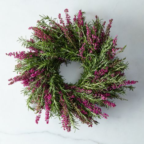 Fresh Rosemary & Heather Wreath