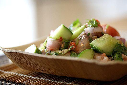 Swordfish Ceviche with an Asian Flair