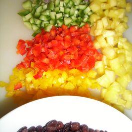 Black bean, pineapple salad with citrus dressing