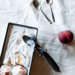 Vegan Roast Peach Ice Cream