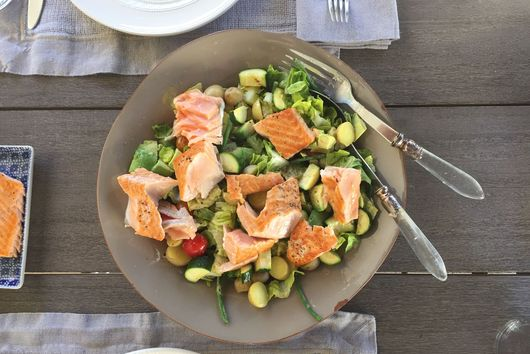 Grilled Salmon Nicoise