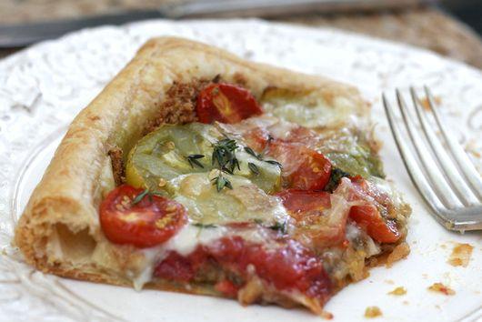 Pesto Tomato Tart with Taleggio and Thyme