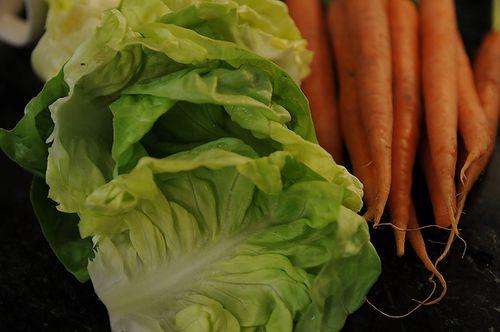 Glazed Carrots with Braised Bibb Lettuce