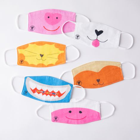 Kids' Animal Cloth Face Masks (Set of 6)