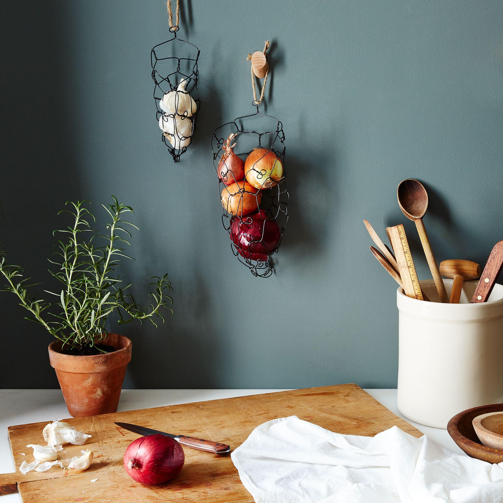 Wall Mounted Onion Garlic Baskets on Food52
