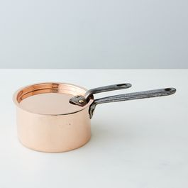 Vintage Copper Petite Saucepan, Mid 19th Century