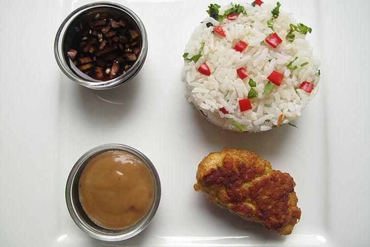Peanut Butter Aioli with 'Thai' Chicken Satays