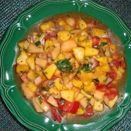 Piquante Peach and Melon Salsa