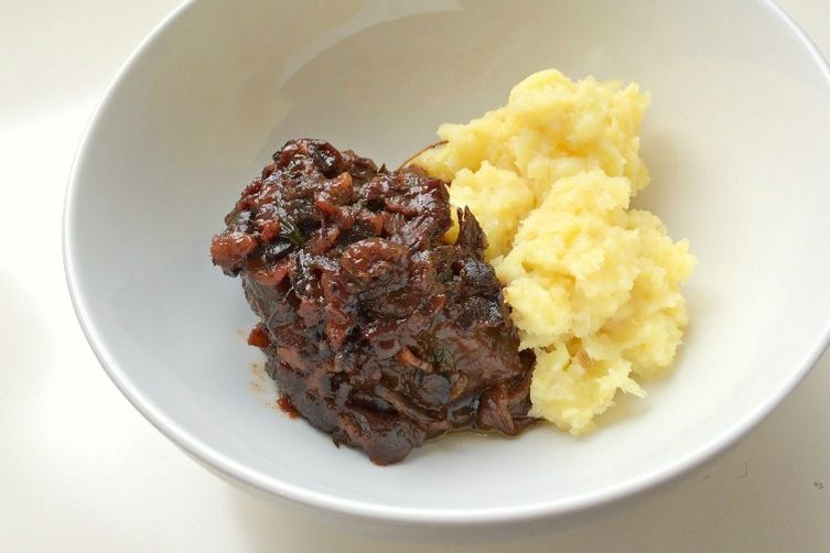 Autoimmune Paleo Cherry Bacon Short Ribs with Mashed Parsnips