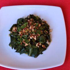 Vegetarian Greens with Pecan Gremolata