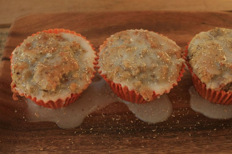 Heavenly Pear Muffins with Crystallized Ginger and Fresh Nutmeg (GF)