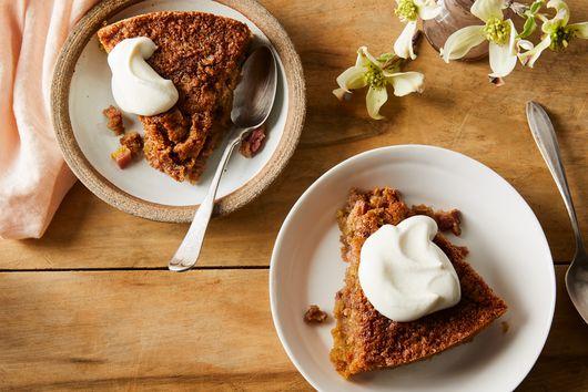 Rhubarb Bread Crumb Cake
