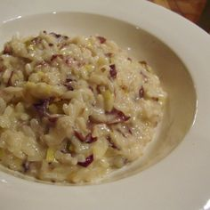 Leek, Radicchio and Fontina Risotto