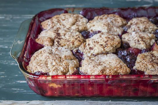 Apricot and Berry Cobbler
