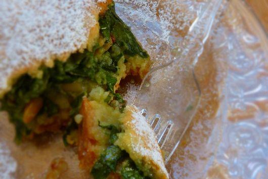 Chard leaves sweet nicoise pie