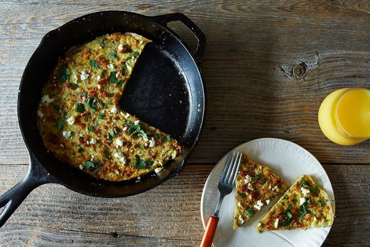 Herb, Feta, and Quinoa-Filled Frittata