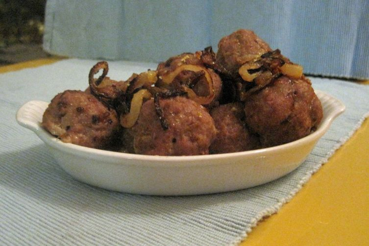 Middle Eastern Ish Meatballs With Caramelized Onions Recipe On Food52