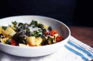 Crispy Kale, Roasted Butternut Squash & Tomato Pappardelle