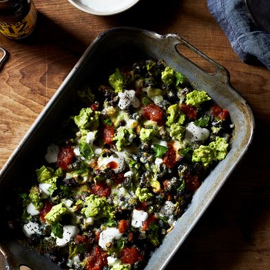 Roasted Broccoli with Nacho Toppings