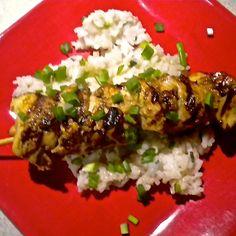 Spicy Sesame Chicken Kebabs