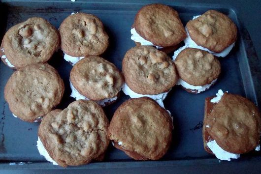 Maple Walnut Cookie and Ginger Ice Cream Sandwiches