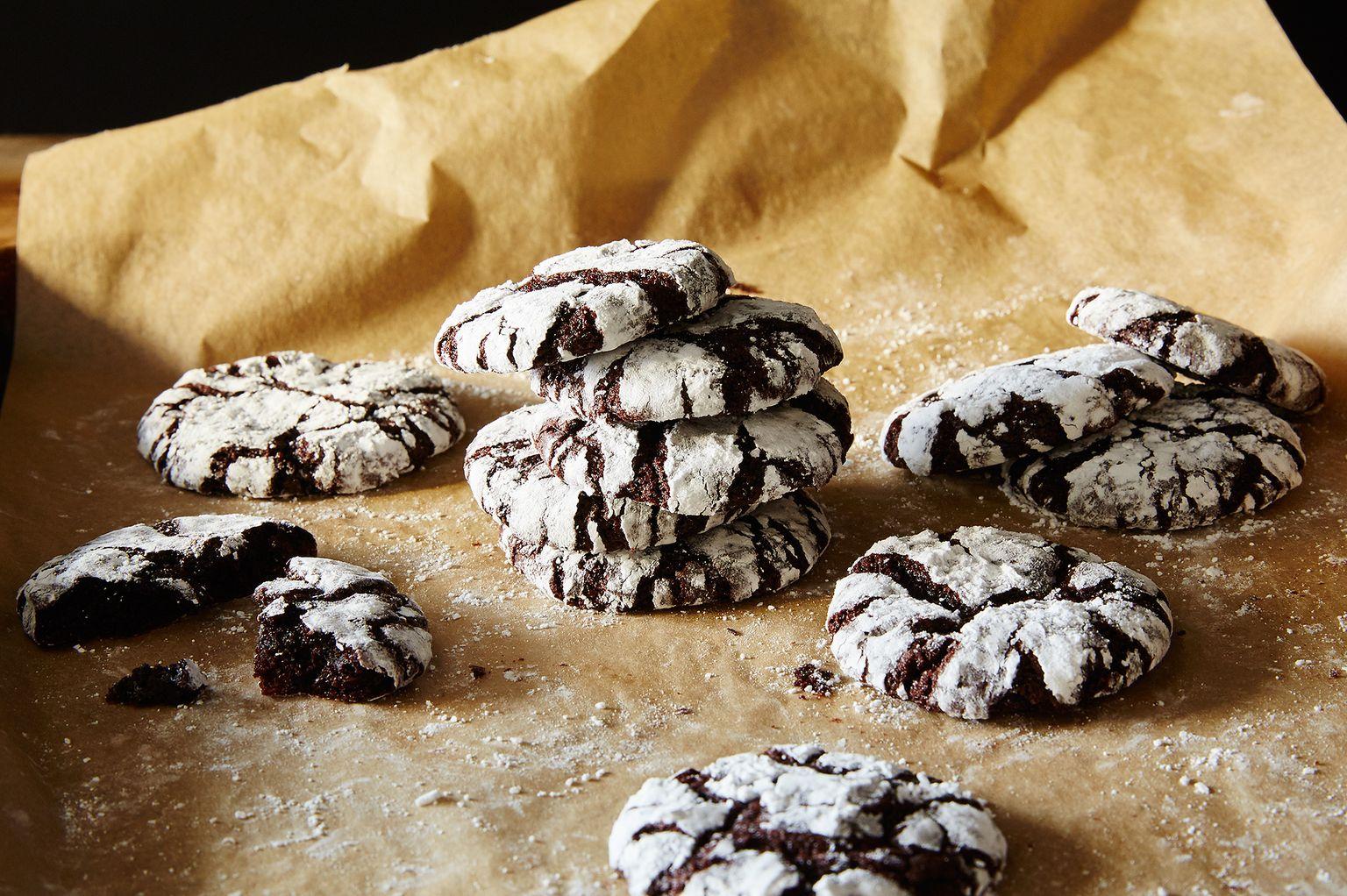 Holiday Crinkle Cookies