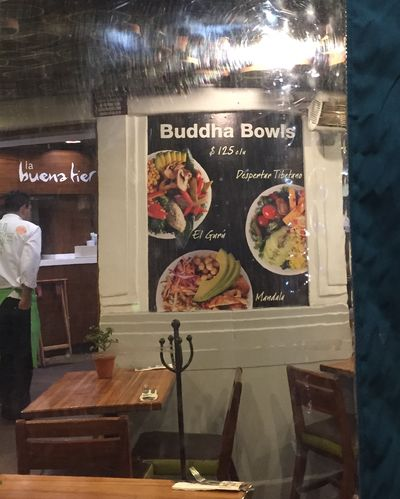 A trio of Buddha bowls I spied in Mexico City earlier this year.