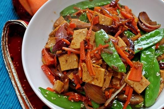 Honey Miso Tofu Stir-Fry