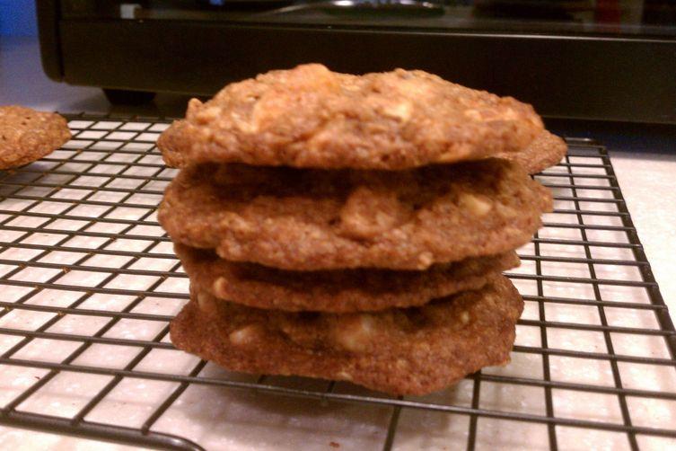 Hazelnut-White Chocolate Chip Cookies