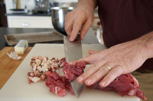 Seasoning with Pork: Polenta with Pork Sausage and Peas