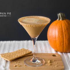 Pumpkin Pie Martini - A Pumpkin Pie in a Glass