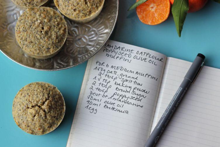Mandarin Oatflour Olive Oil Muffins