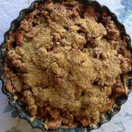 Open Faced Deep Dish Apple Pie
