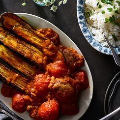 Persian Zucchini Stew With Chicken (Khoresh Kadoo)