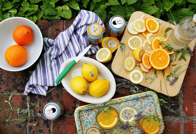 Orange & Sage and Lemon Lavender Vodka Tonic