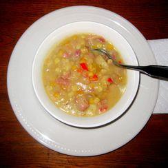 Cauliflower-base Corn Chowder