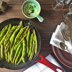 Roasted Broad Beans With Dill Yogurt