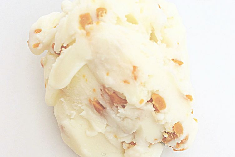 Double white chocolate ice cream