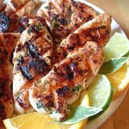Marinated Chipotle Grilled Chicken with Cilantro Lime Dipping Sauce
