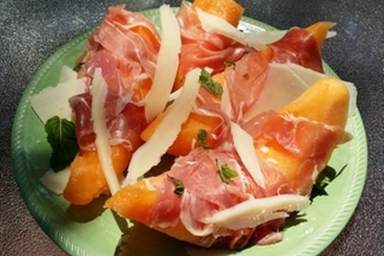 Prosciutto Wrapped Melon with Parmesan Shavings Recipe on Food52