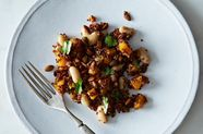 Roasted Butternut and Red Quinoa Salad with Spicy Lime Vinaigrette