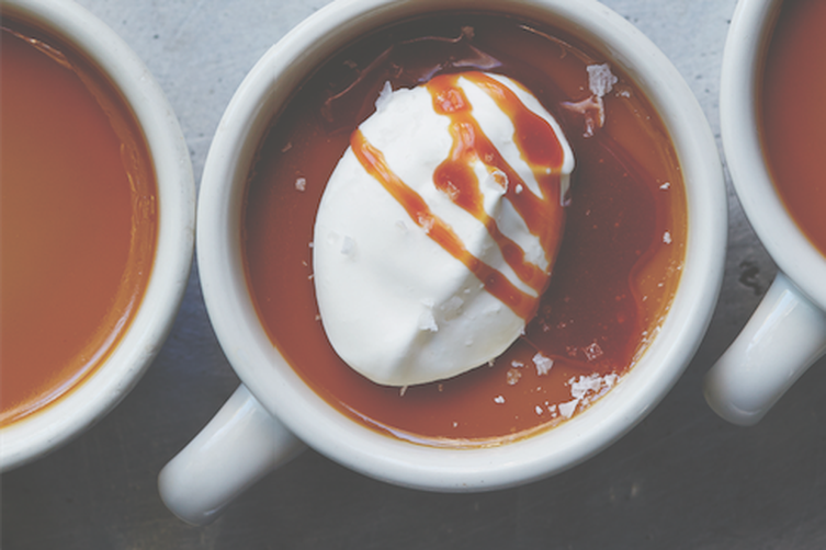 Butterscotch Pots de Creme with Salted Caramel Recipe on Food52