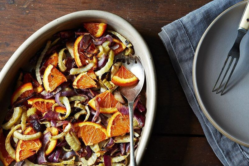 Perhaps in this Roasted Fennel, Red Onion & Orange Salad?