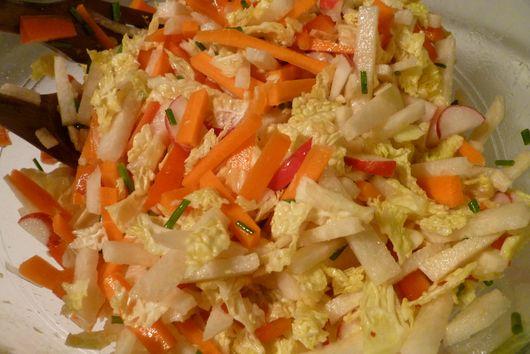 Crunchy carrot, jicama, and radish slaw