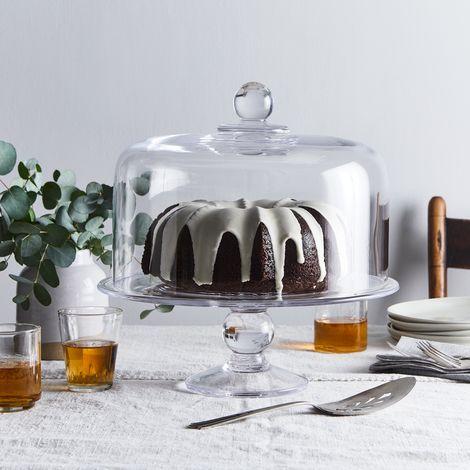 Handblown Hartland Cake Stand & Dome