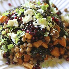 Moroccan Spiced Braised Kale, Butternut Squash and Chickpeas