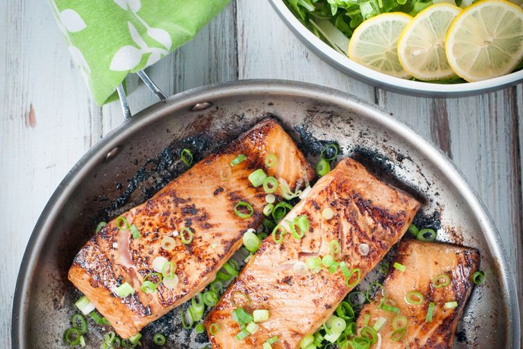 Pan Seared Marinated Salmon Fillets