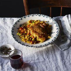A Schmaltzy, No-Seafood (Read: Easier) Paella